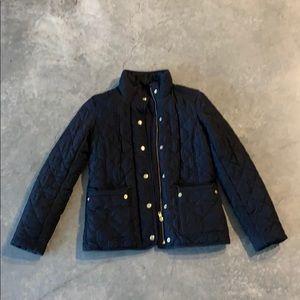 Black j. Crew quilted jacket